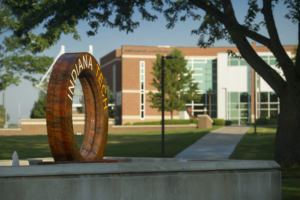 Indiana Tech Water Wheel Fountain